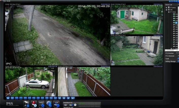 Просмотр с камер с компьютера