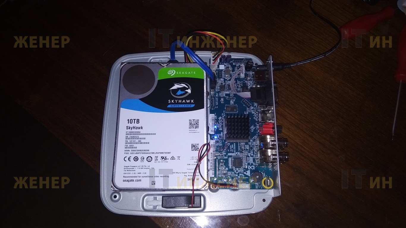 В видеорегистратор RVI установлен HDD 10Tb.