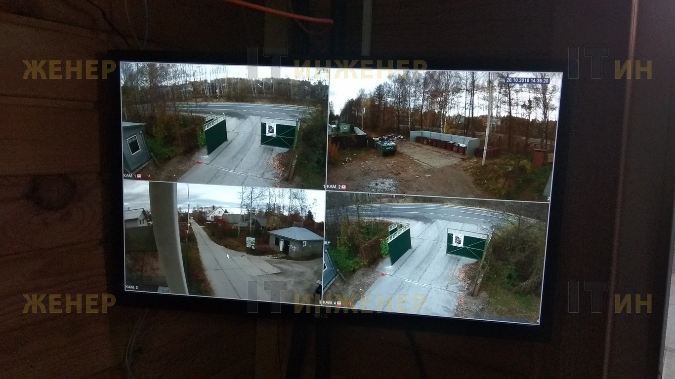 Изображение с 4-х HD CVI камер днем