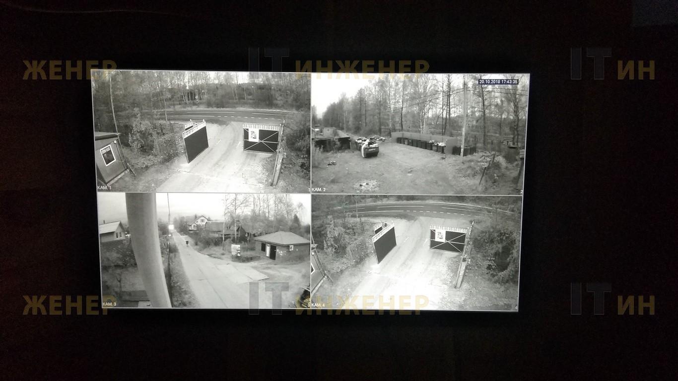 Изображение с видеокамер в 1 час ночи.