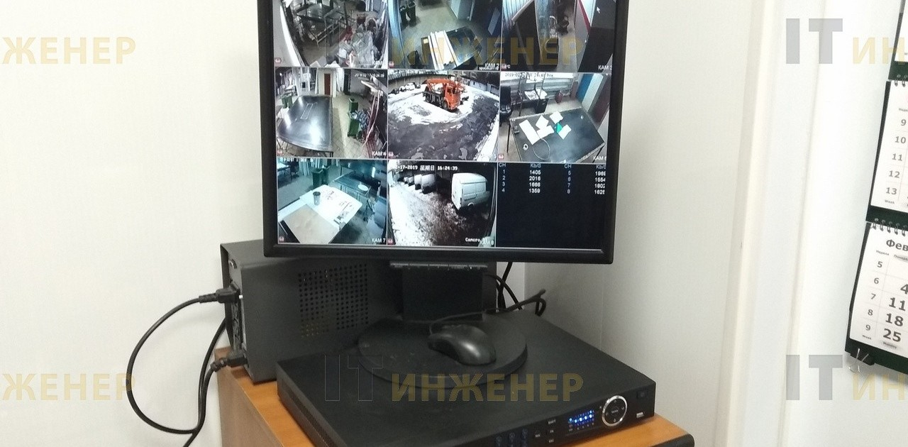 Установка видеонаблюдения на производстве.